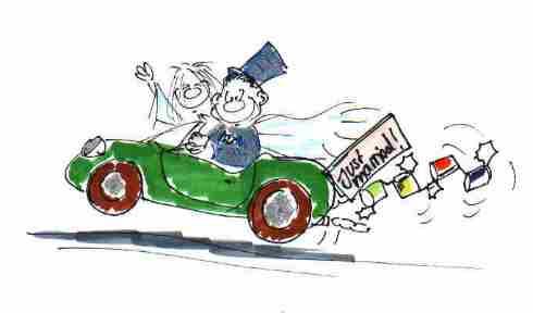 cartoon für hochzeitszeitung