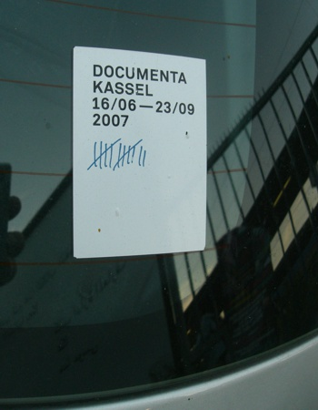 documenta 12 Kassel sticker