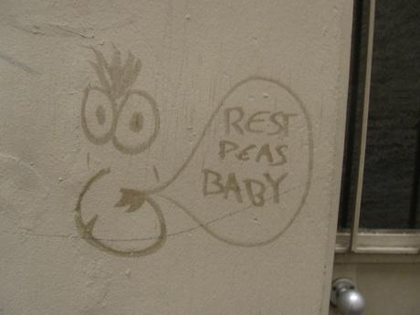 Comic an Wand, Basel, Nähe SBB