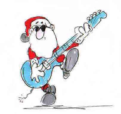 Weihnachtsmann Motiv, lustig
